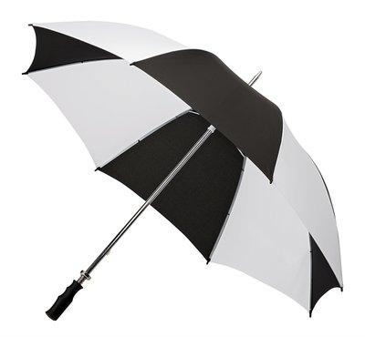 Golfschirm Schwarz Weiß Handöffnung, Diam. ca. 120 cm