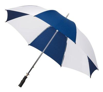 Golfschirm Dunkelblau/Weiß Handöffnung, Diam. ca. 120 cm