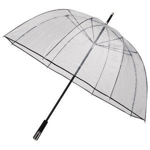 Durchsichtiger Golfregenschirm Schwarz