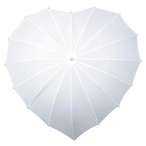Herz Regenschirm Weiß