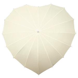 Herz Regenschirm Cremefarbig
