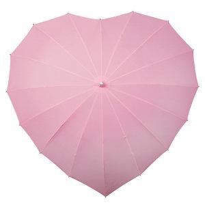 Herz Regenschirm Hell Rosa