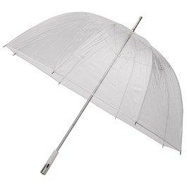 Durchsichtiger Golfregenschirm Weiß