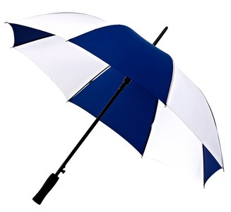 Falcone® Golfschirm Dunkelblau/Weiß, Automatik