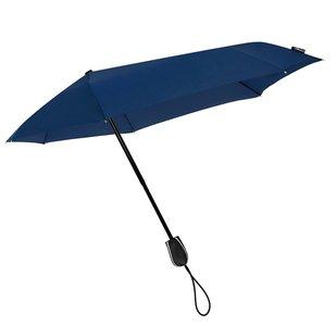 Aerodynamische Sturm Taschenregenschirm - Dunkel Blau