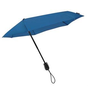 Aerodynamische Sturm Taschenregenschirm - Blau