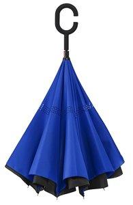 Inside Out Regenschirm - Doppeltuch - Windsicher - Blau