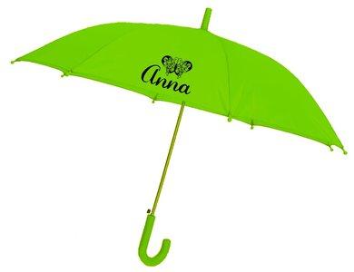 Kinderregenschirm_Schmetterling_Grün