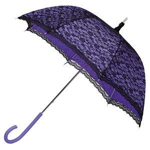 Brautschirm mit Spitze Violett