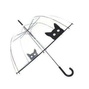 Durchsichtiger Regenschirm Katze