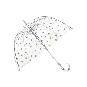 durchsichtiger regenschirm Punkte Silber