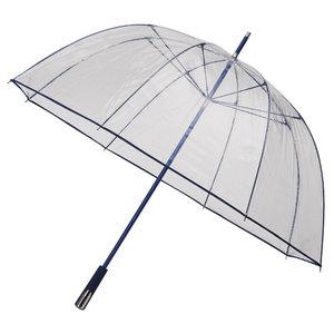 Durchsichtiger Golfregenschirm Dunkelblau