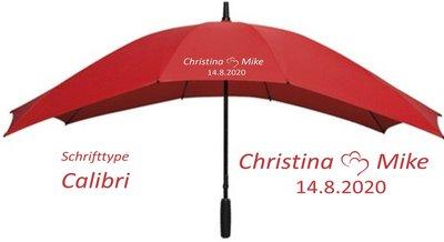Duo Regenschirm Rot Liebesherz