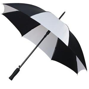 Falcone® Golfschirm Schwarz/Weiß, Automatik
