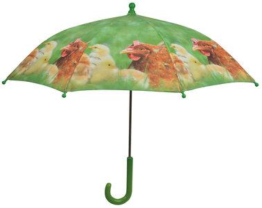 Kinderregenschirm Hühner