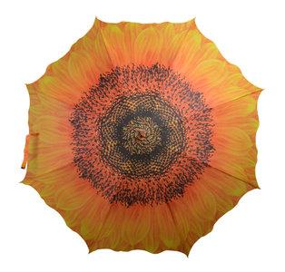 Regenschirm mit Sonnenbluhmen