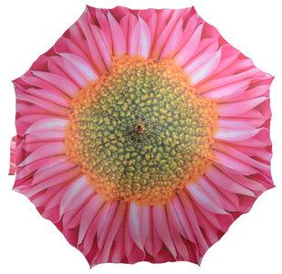 Regenschirm mit Rosa Blume