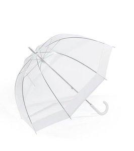 Happy Rain Glockenschirm Durchsichtig Rand Weiß