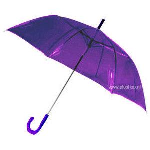 Durchsichtiger Stockregenschirm Violett