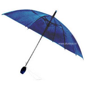 Durchsichtiger Stockregenschirm Tulpe - Blau