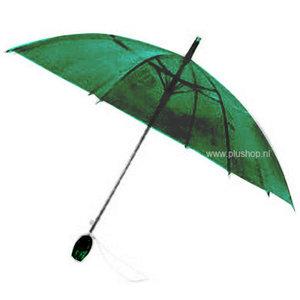 Durchsichtiger Stockregenschirm Tulpe - Grün