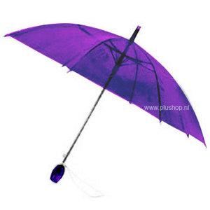 Durchsichtiger Stockregenschirm Tulpe - Violett