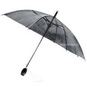 Durchsichtiger Stockregenschirm Tulpe - Schwarz
