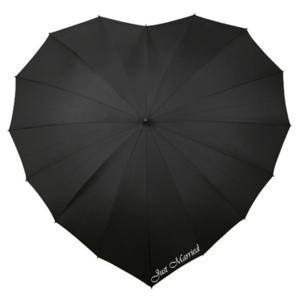 Herz Regenschirm Schwarz Bedrucken