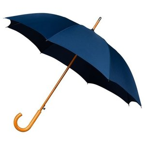 Falcone Windproof Luxus Stockschirm Dunkel Blau