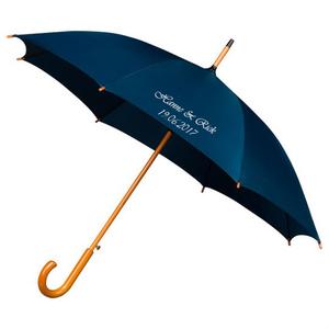 Falconetti® Stockschirm Luxus Dunkelblau Bedrucken