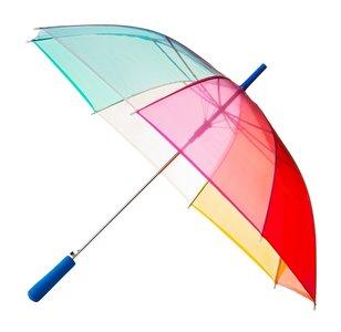 Durchsichtiger Regenbogen Golfschirm - Blau