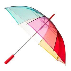 Durchsichtiger Regenbogen Golfschirm - Rot