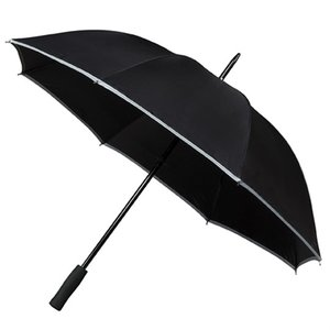 Reflektierender Golfregenschirm Schwarz