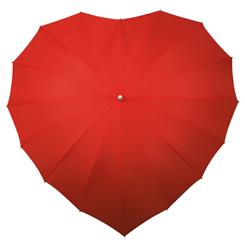 Herz Regenschirm bedrucken