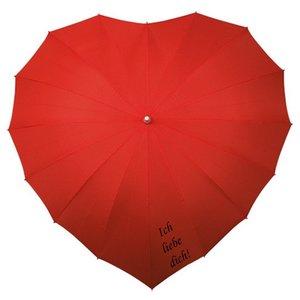 Herz Regenschirm Rot - Ich liebe dich!