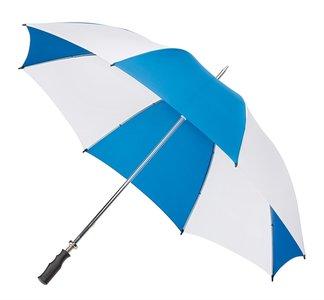 Golfregenschirm Blau Weiß
