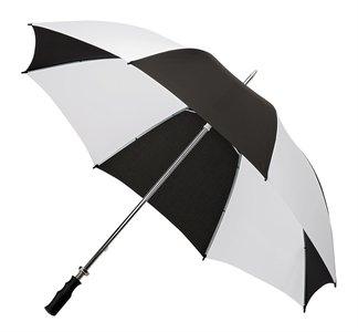 Golfregenschirm schwarz weiss