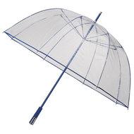 Durchsichtiger Golfregenschirm Blau