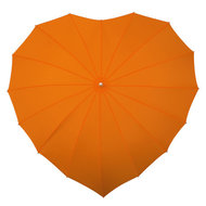 Herz Regenschirm Orange
