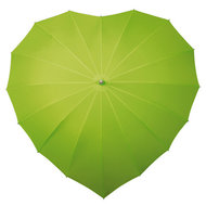 Herz Regenschirm Apfel Grün