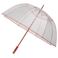 Durchsichtiger Golfregenschirm Orange