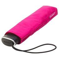 ultraflacher Taschenregenschirm rosa